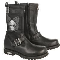 Xelement Men's Tribal Skull Boots with Poron Insoles