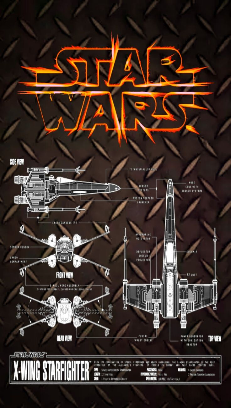 Star Wars X Wing Blue Print IPhone Wallpaper