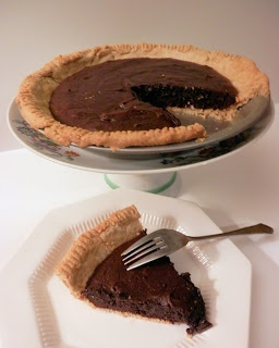 Mocha Fudge Brownie Pie...rich, intense, fudgy with a pudding like middle in a homemade whole wheat crust!!