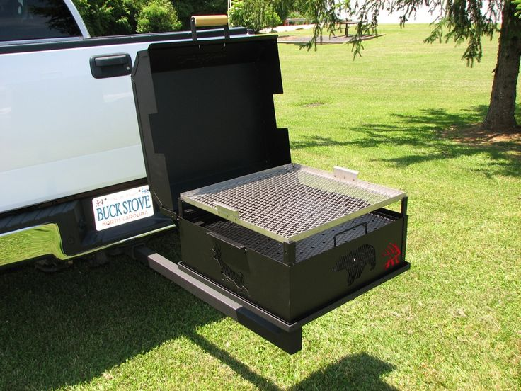 A Trailer Hitch Mount For The Buck Stove Charcoal Grill
