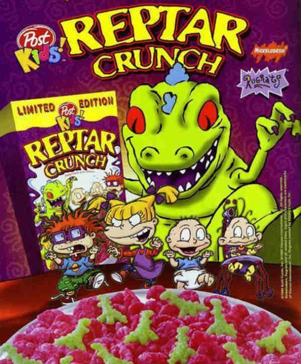 Post Kids Reptar Crunch Rugrats Cereal
