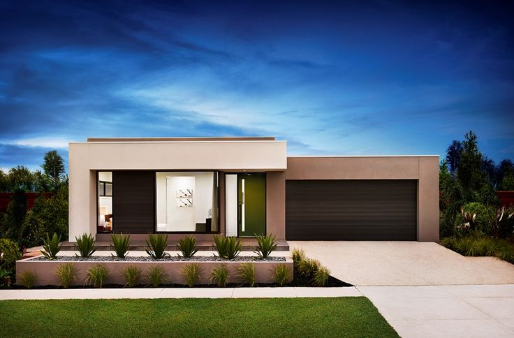 Contemporary facade - available for the Bohemia, Verve, and Muse #homedesigns, #mojohomes