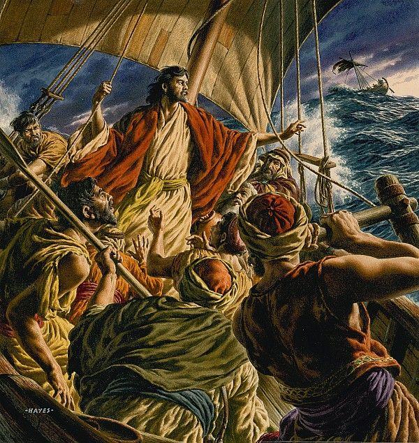 Christ on the sea