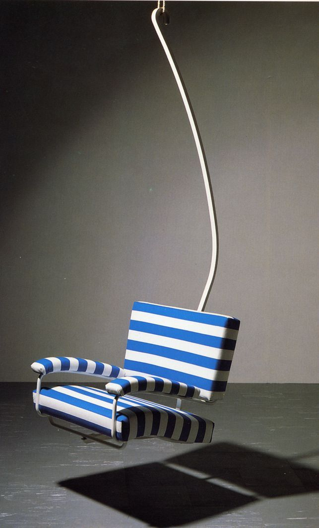Franco Albini, chairlift seat, 1940. Designed for the Salone dei Mobile di Milano, reconstructed by Cosmit, 1988. Via triennale.org
