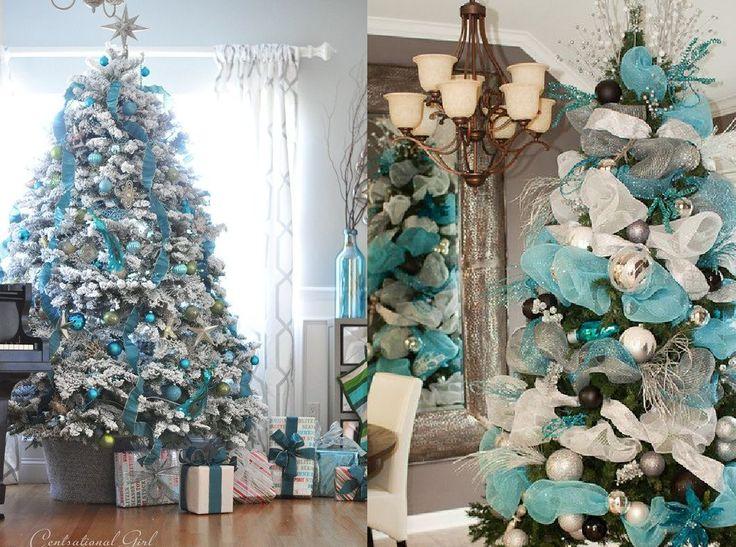 M s de 1000 ideas sobre rboles azules de navidad en - Decoracion arboles navidenos ...