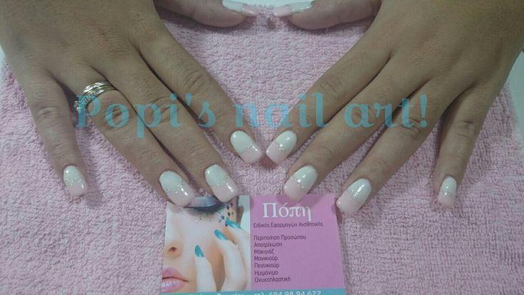 French manicure - shellac