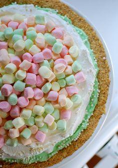 Marshmallow mermaid pie (National Pie Day: January 23 & March 14).