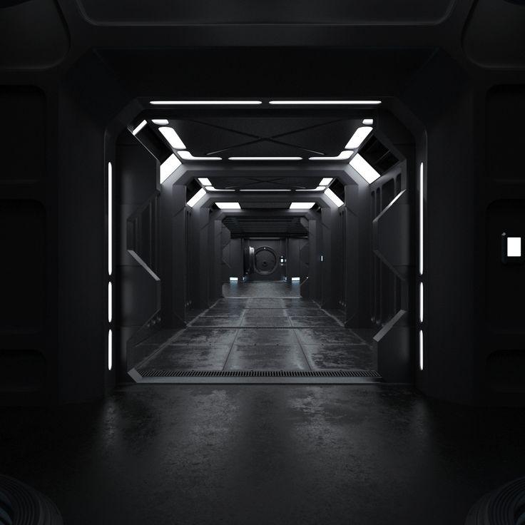 Sci Fi Interior, Roman Prytuliak on ArtStation at https://www.artstation.com/artwork/XGx9L