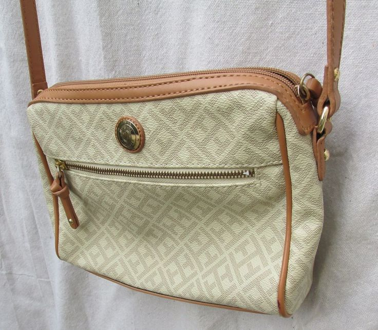 Tommy Hilfiger Shoulder Bag TH Signature Handbag Pocketbook Purse Tan  #TommyHilfiger #ShoulderBag