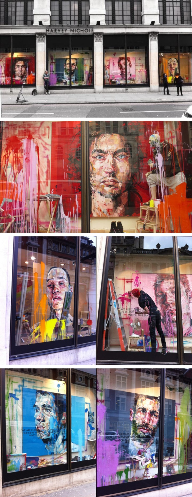 Harvey Nichols windows by Andrew Salgado