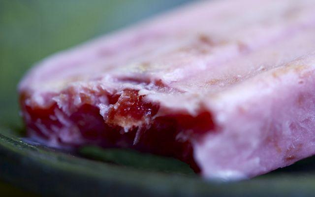 Cherry yogurt popsicles | Yummy! | Pinterest