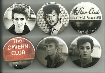 The portrait shots of the Beatles used for these pins were taken by legendary Beatles photographer Astrid Kirchherr. All pins are 1.5 inches in diameter.
