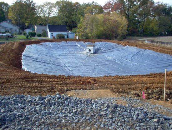 Large pond liner installation pond liner installation for Diy pond liner ideas