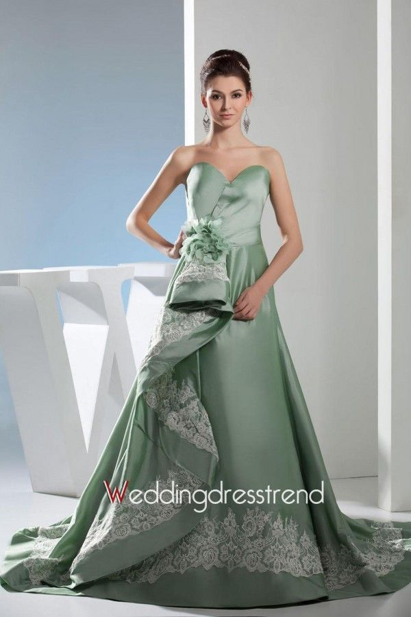 Beautiful Appliques Taffeta Sweep Train Ball Gown - Cheap Wedding Dresses Wholesale and Retail Online Store