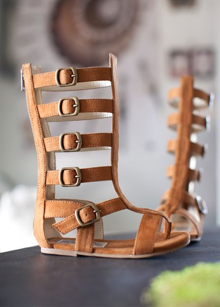 Joyfolie Rust Gladiator Boot Sandal for little girls! How adorable!