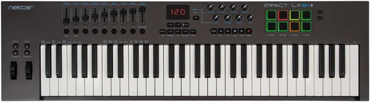 61-key USB-MIDI Keyboard Controller with Pre-mapped DAW Configurations for Bitwig Studio, Cubase, Digital Performer, Garageband, Logic Pro, Nuendo, Reason, SONAR, Studio One, FL Studio, and Reaper