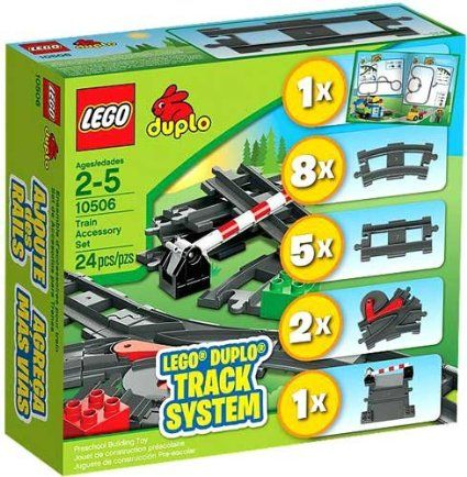 Amazon.com : Lego Duplo 10506 Train Accessory Set Track System : Toy Interlocking Building Sets : Toys & Games