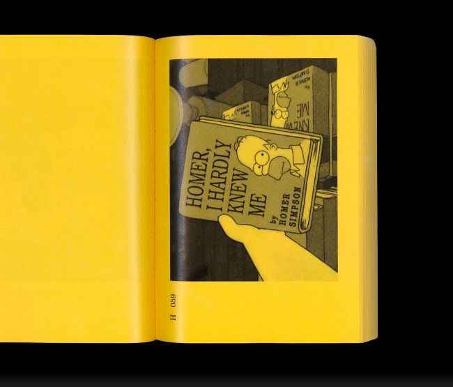 Collection of books from The Simpsons. manystuff.org – Graphic Design, Art, Publishing, Curating… » Graphic Design