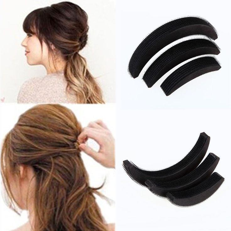 3 Stücke Verschiedenen Größen Flauschigen Crescent Clip Pony Einfügen Wurzel Haar Erhöht Gerät Gute Haar Heighten Tools für Mädchen HB88