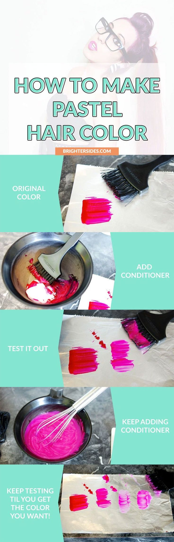 How to make your own DIY pastel hair dye and save money! This article has step-by-step instructions and tips from a professional hairstylist.