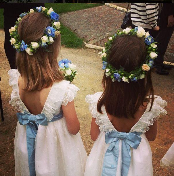 Daminhas com vestidos Wanda Borges
