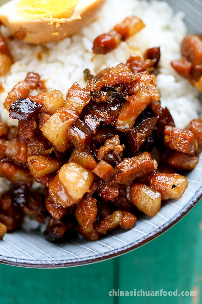 lu rou fan-Taiwanese braised pork over rice