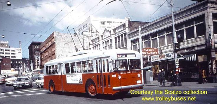 1963 Seattle Trolley Buses | Seattle Trolleybus Photos Third Period