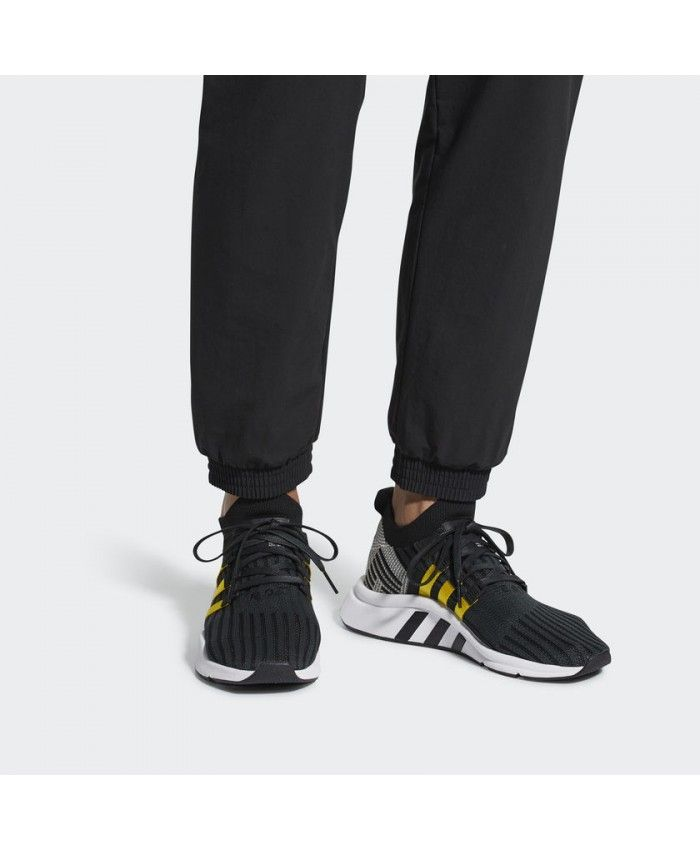 2220c8d281e6ca Adidas Mens Eqt Support Mid Adv Primeknit Black Yellow Shoes ...