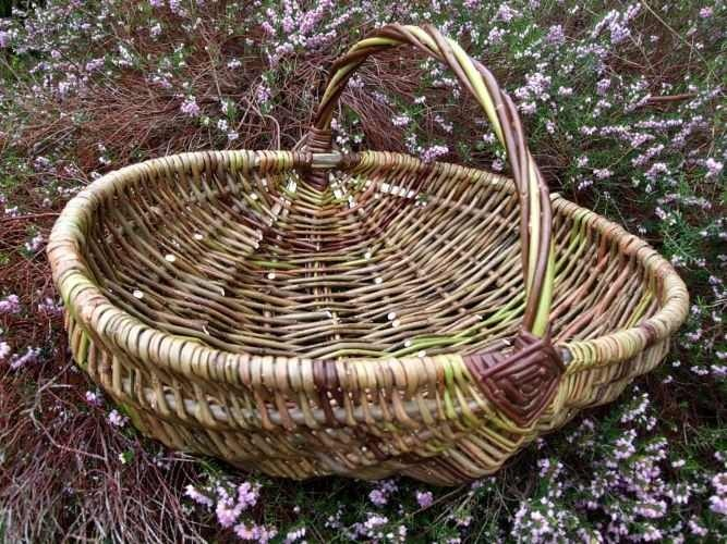 Ribbed willow basket
