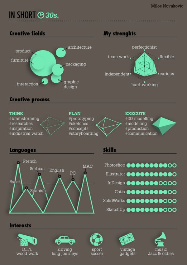 My Curriculum Vitae by Milos Novakovic, via Behance