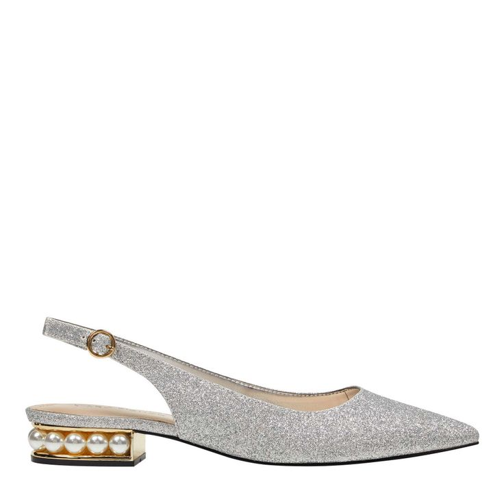 A pointy toe accentuates the streamlined silhouette of the Rise  versatile slingback flat. #MarcFisher #flats #shoes #fashion #style