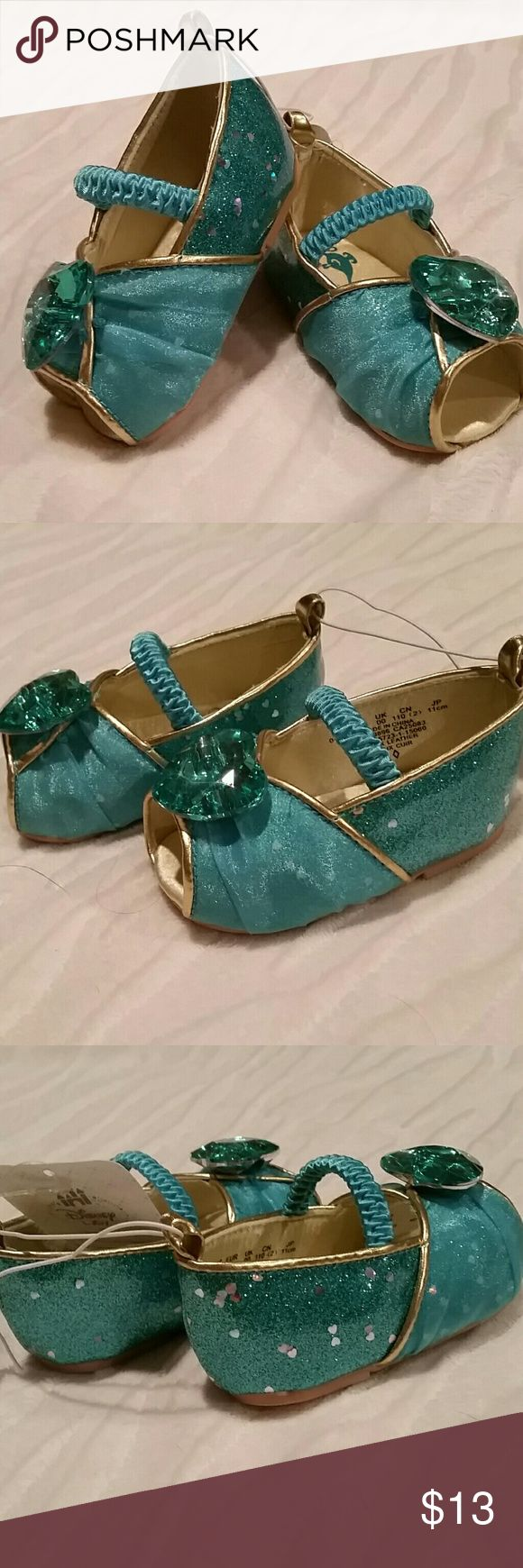 Disney Princess Jasmine Shoes Adorable sparkly turquoise sandals. New with tag. Disney Shoes