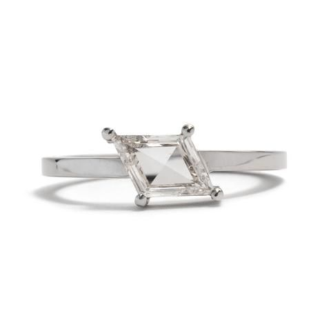 Diamond Rhombus Four Claw Ring by Melanie Katsalidis