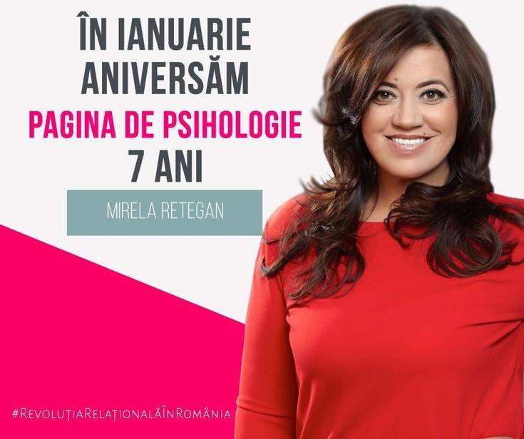 """La mulți ani și multe reacții pozitive, Pagina de Psihologie! Ți-ai câștigat un loc important în societatea românească și îți doresc să rămâi mulți, mulți ani, în misiunea ta."""" Mirela Retegan #ȘapteAni"""