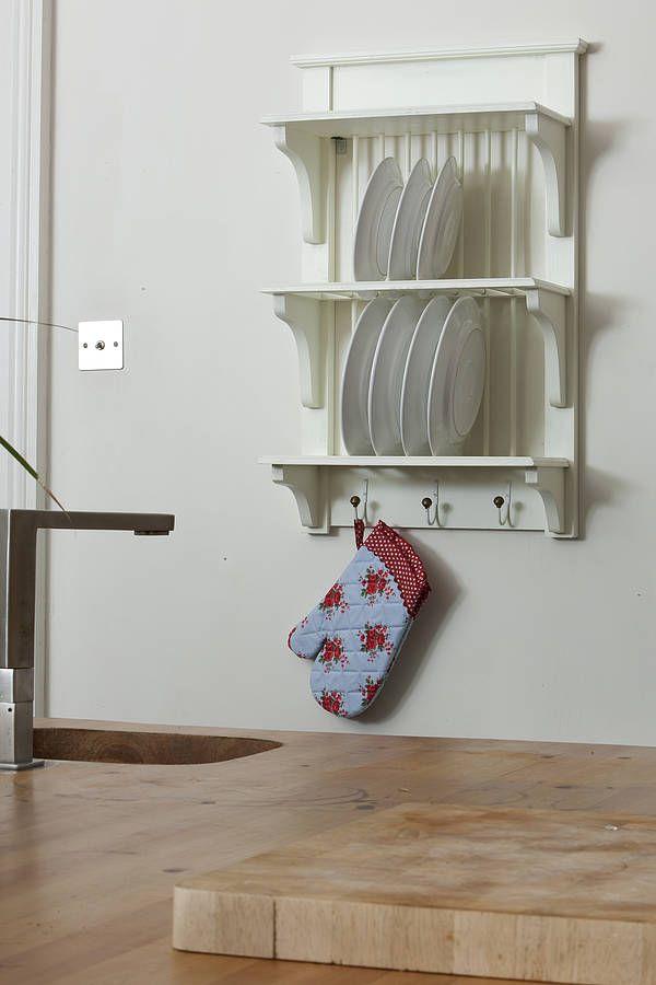 Wooden Wall Plate Racks Kitchen