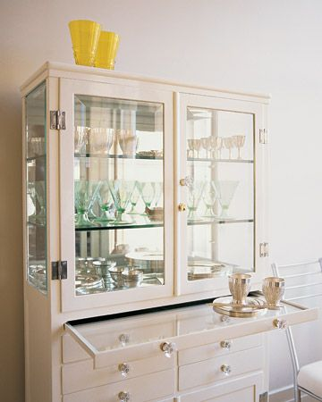 China Cabinet: Consider storing special-occasion glassware and dinnerware away from the kitchen, especially if it's not often used.