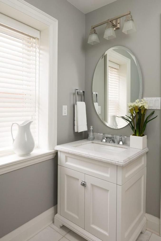 67 Neat Powder Room Cabinets Vanities