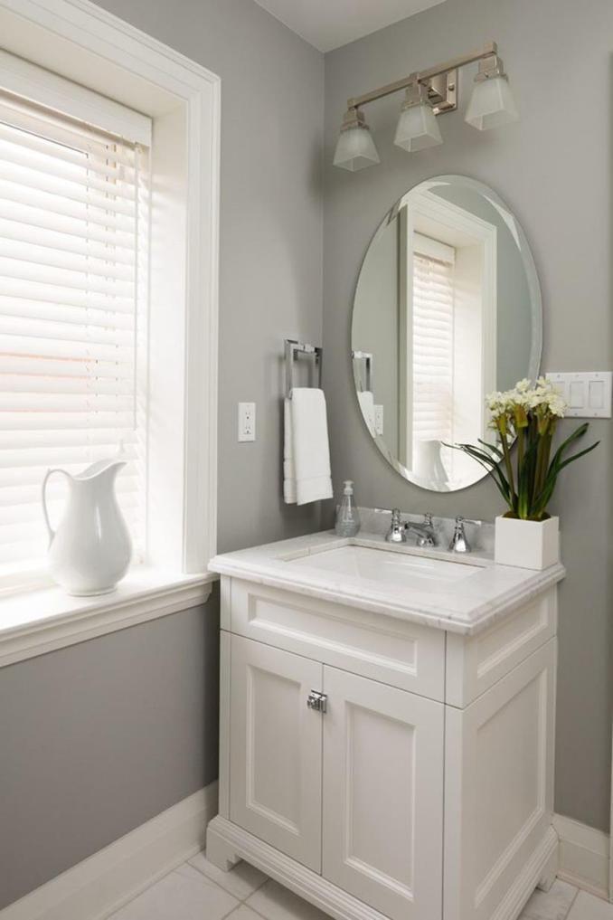 Hugedomains Com Small Bathroom Vanities Powder Room Vanity Guest Bathroom Colors