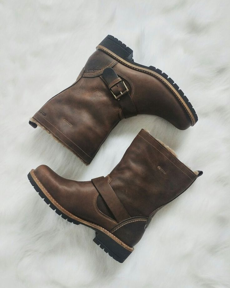 ECCO Elaine Buckle Boot in Cocoa Brown $260