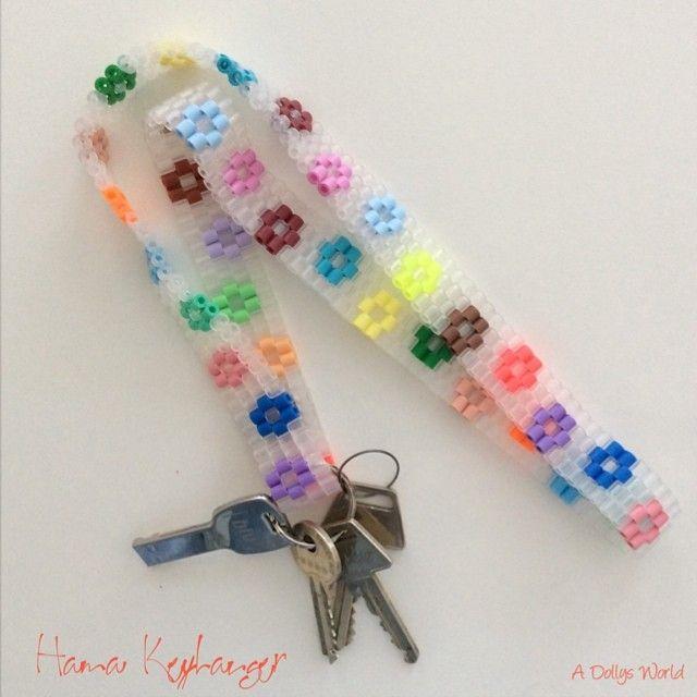 Keyhanger hama perler beads by ADollysWorld