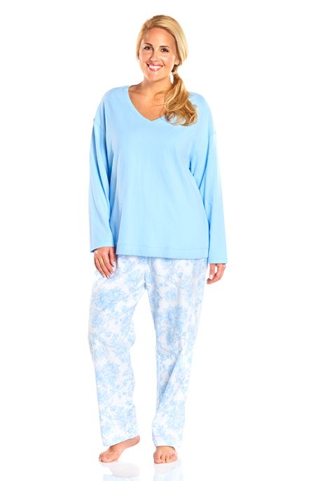Our most comfortable sleepwear yet - Always For Me Long Sleeve Plus Size Pajama Set