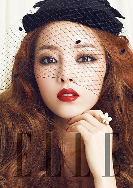 red lipstick :: Goo Hara for Elle