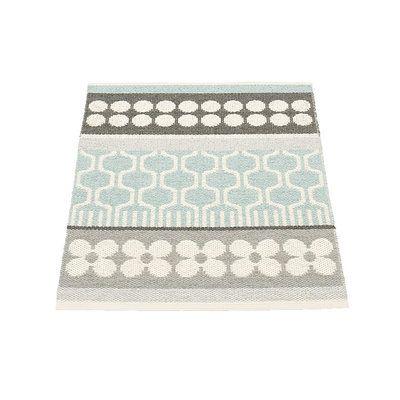 Pappelina ASTA / Pale Turquoise - tapis de salle de bain, petit tapis, grand paillasson tressé, design et fabrication suédois