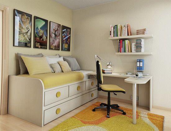 Small Bedroom Designs with Superhero Wall Photos - Home Interior Design - 28246