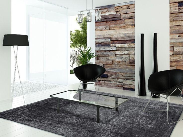 Fur Deco | cotton wool rug jacob's ladder - harlem contrast