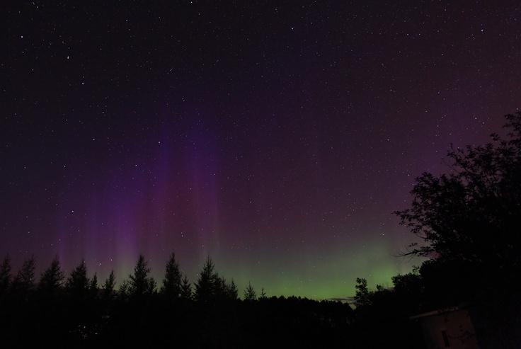 Auroras boreales en Fort Frances, Ontario, Canadá