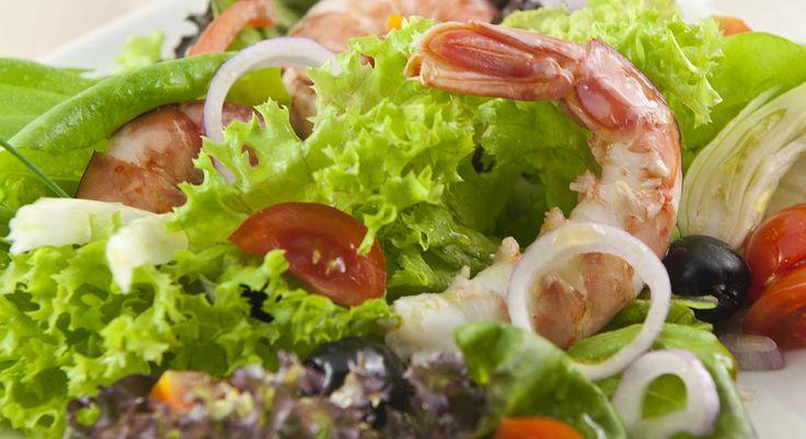 Gamberi alla catalana in insalata