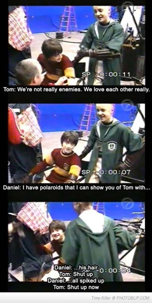 Harry Potter Had The Best Behind The Scenes - the actors of HP show us real friendship... blackmail!
