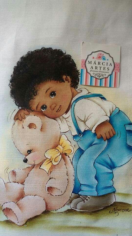 Niño de Braga azul y ososentado.