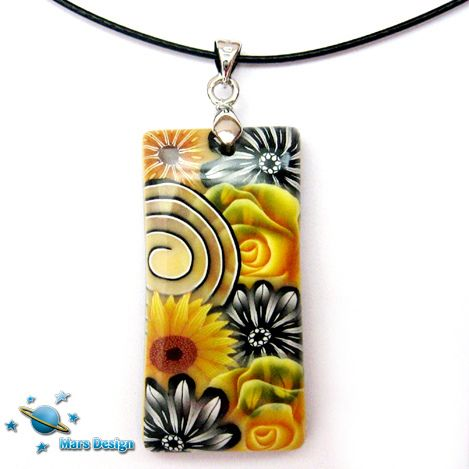 Black and yellow pendant | Flickr - Photo Sharing!